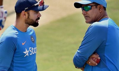 Anil Kumble with Virat Kohli