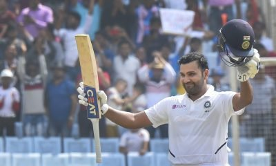 Ranchi: India's Rohit Sharma celebrates his double century