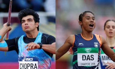 Neeraj Chopra (left) and Hima Das