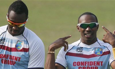 Andre Russell and Dwayne Bravo