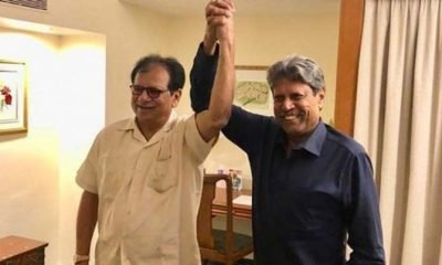 Karsan Ghavri with Kapil Dev