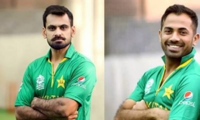 Mohammad Hafeez and Wahab Riaz
