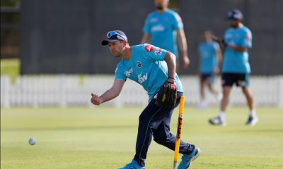 Delhi Capitals Head Coach Ricky Ponting during the nets session on Tuesday