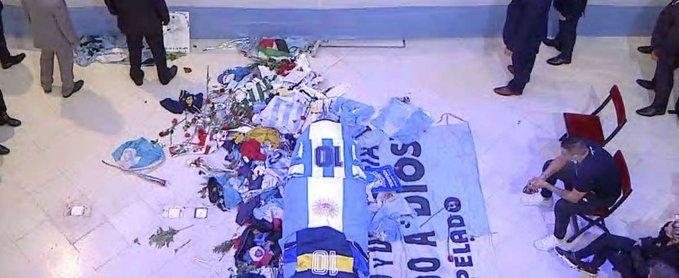 Diego maradona buried