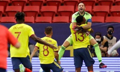 Colombian_GoalKeeper_celebrates_after_winningAgainst_Uruguay_atCopa_AMerica