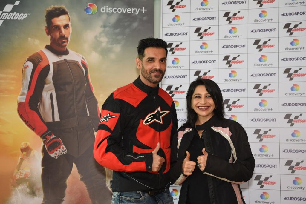 Eurosport - MotoGP Assocication with John Abraham + Megha Tata,Managing Director- South Asia, Discovery Inc(2)