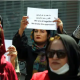 Women gather to demand their rights under the Taliban rule during a protest in Kabul, Afghanistan. AP