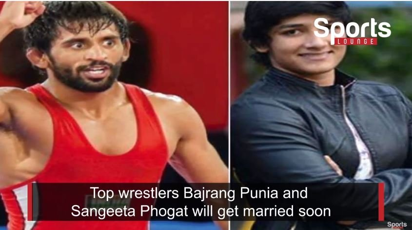 Bajrang Punia and Sangeeta Phogat