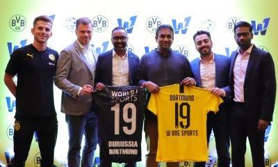 L-R Benjamin Galant, UEFA B Coach, Borussia Dortmund; Max-Jannis Foerster, Representative India, Borussia Dortmund; Varun Achreja, Co-Founder, World1 Sports; Suresh Letchmanan