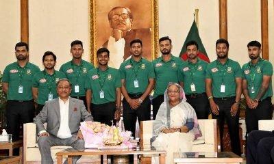 PM Hasina with team Bangladesh
