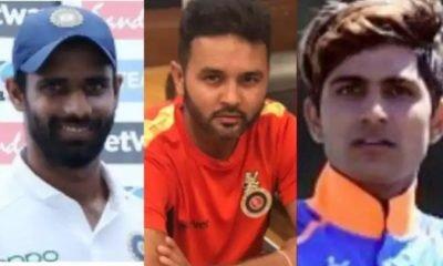 Hanuma Vihari, Parthiv Patel and Shubman Gill