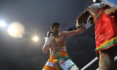 Vijender punches past Adamu for 12th staright pro boxing win